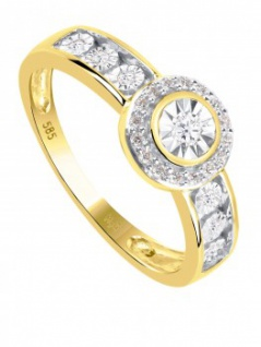 Jana - Diamantring Gelbgold - 0, 15ct.