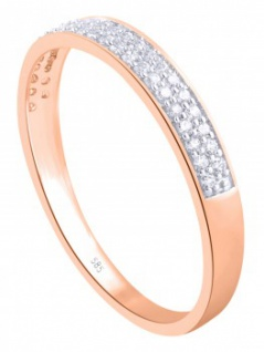 Medialis - Diamantring Rosé gold - 0, 20ct.