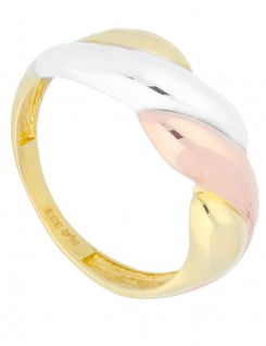 Papillon - Ring ohne Stein Gold - Tricolor
