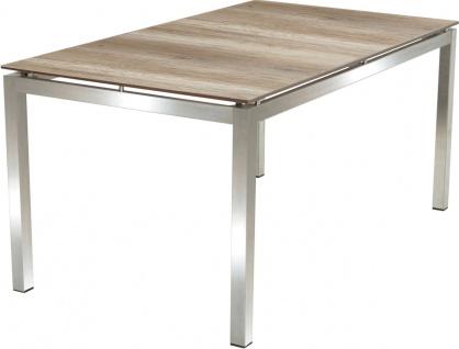 Hudson Dining-Tisch Edelstahl Silber