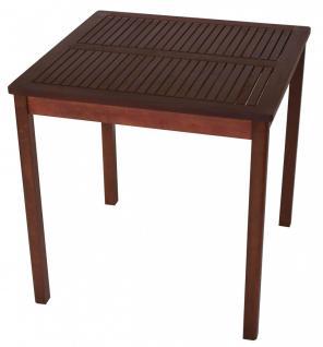 Gartentisch Holztisch Gartenmöbel 70x70 Garten Esstisch Tisch Eukalyptusholz - Vorschau