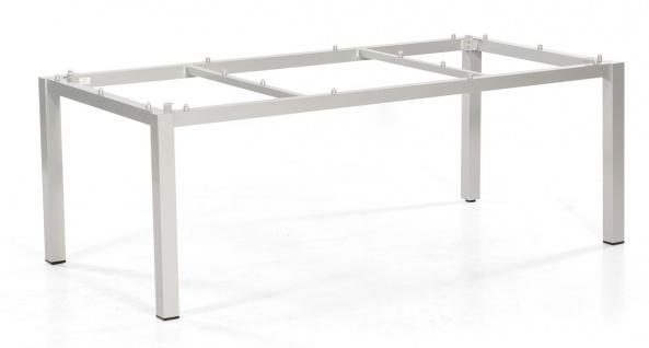 Base Tischgestell Aluminium Silber
