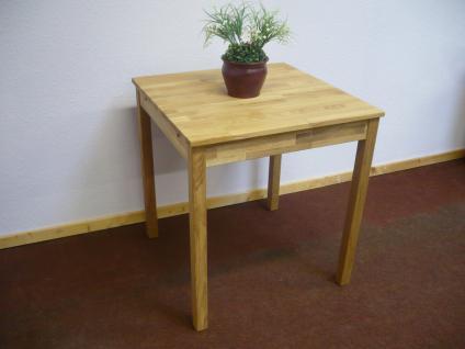 Esstisch Esszimmertisch Küchentisch Tisch 70x70 cm Wildeiche massiv geölt - Vorschau 2