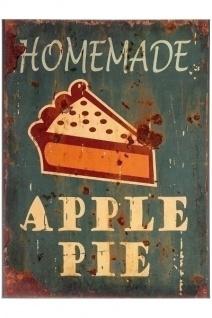 Metallschild Apple Pie Mehrfarbig