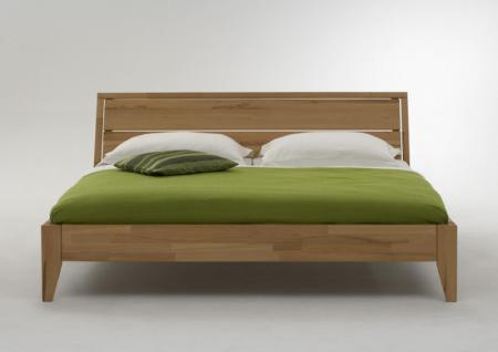 Bett Doppelbett Ehebett massiv Kernbuche geölt System Varianten Überlänge