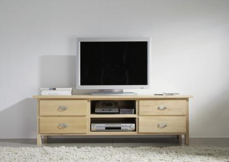Wohnwand Wohnzimmerwand Wohnzimmer TV-Wand Birke massiv gewachst - Vorschau 2