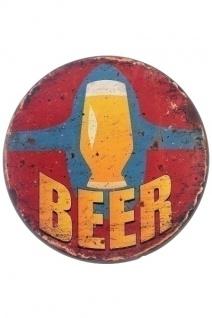 Metallschild Beer Mehrfarbig