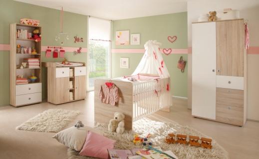Sleepy Babyzimmer Komplettset Schrank + Regal + Wickelkommode + Bett MDF - Vorschau 1