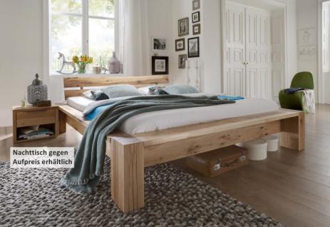 Bett Doppelbett massiv Eiche Balkeneiche geölt versch. Ausführungen
