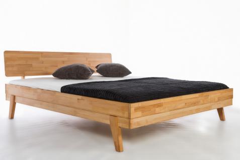 Bett Doppelbett Holzbett Massivholzbett modern Kernbuche massiv versch. Größen