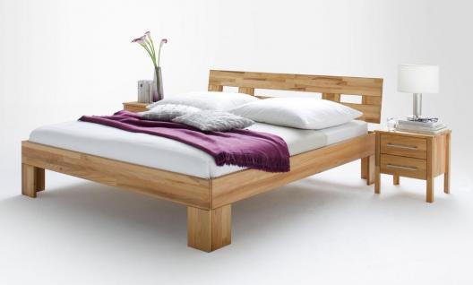 Schlafzimmer Komplett Set in massiver Kernbuche geölt 3-trg Schrank Bett 2x Nako - Vorschau 3