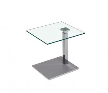 Couchtisch Beistelltisch Glas, Holz und Metall 47x55 cm - Vorschau 1