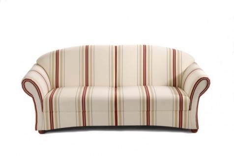 Sofa Couch 2, 5-Sitzer Polstersofa Landhaus gestreift Streifen natur romantisch