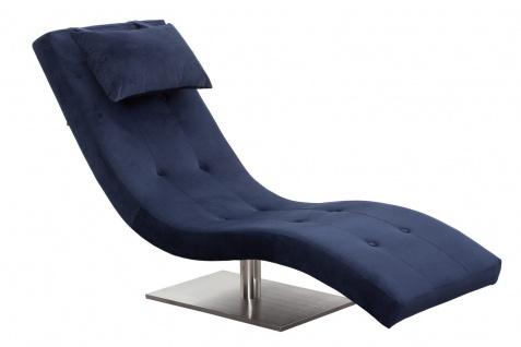 Relaxliege Metall und Polyester Blau