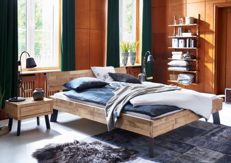 Massivholzbett Bett Doppelbett Holzbett Bettgestell Eiche massiv versch. Größen