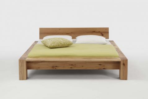 Bett Doppelbett schwer massiv Eiche Balkeneiche geölt versch. Ausführungen