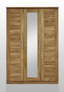 Kleiderschrank Schlafzimmerschrank Spiegeltür 3trg Schlafzimmer Wildeiche massiv