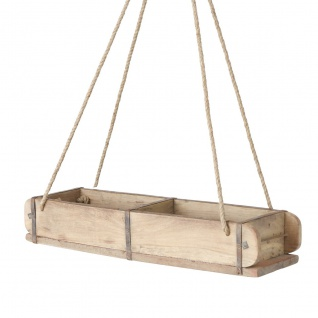 Box Rygge mit Seil Recyceltes Holz Metall