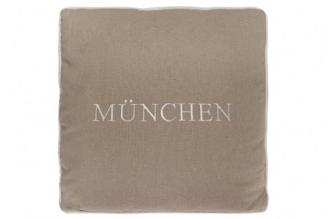 Kissen München Baumwolle Beige