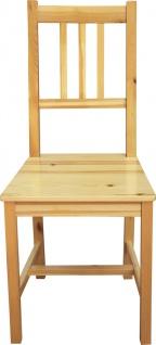 Stuhl Kiefer massiv Natur lackiert
