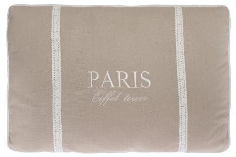 Kissen Paris Eiffel Tower Baumwolle Creme