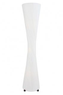 Stehlampe rund Edelstahl und Latex Weiß