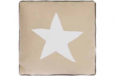 Kissen White Star Baumwolle Beige