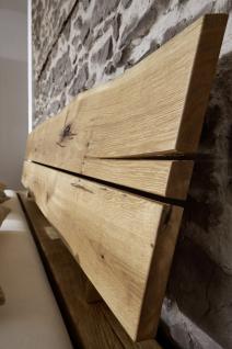 Bett Doppelbett Balkenbett Wildeiche massiv Schlafzimmer Balken rustikal 140x200 - Vorschau 3