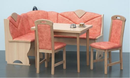 Sitzgruppe Eckbank Tisch und 2x Stuhl Buche Natur