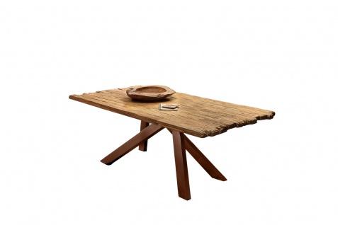 TABLES&Co Tisch 200x100 Teak Natur Metall Braun