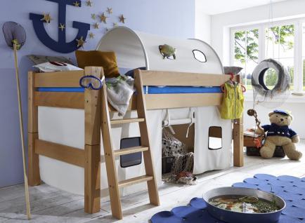Kinderbett Abenteuerbett Buche massiv bio geölt Kinderzimmer halbhoch teilbar