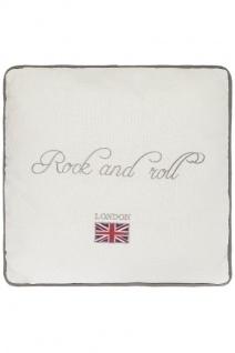 Kissen Rock'n Roll Baumwolle Weiß