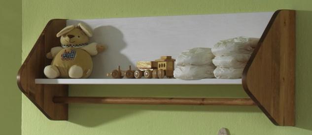 Wandregal Bücherregal Babyzimmer Spielzeugregal Kiefer massiv