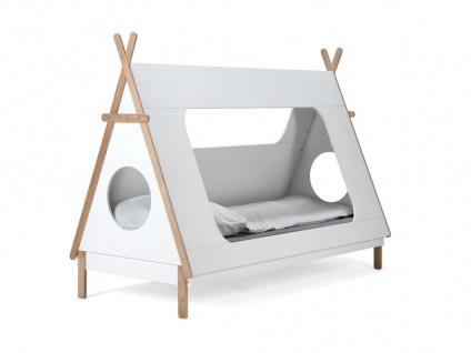 Kinderbett Zelt II Bett 90x200 MDF Weiß