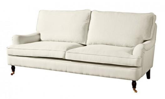 Couch Sofa Textilsofa Polstersofa 3 sitzig Klavierfüße weich bequem Textilsessel