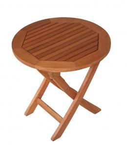 Beistelltisch klappbar Klapptisch rund Tisch Gartentisch Eukalyptusholz FSC