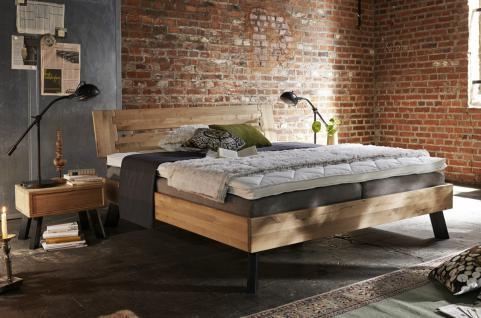 Massivholzbett Bett Doppelbett Holzbett Eiche Buche versch. Größen Bettgestell