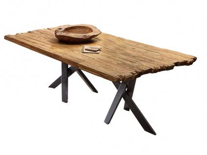 TABLES&CO Tisch 180x100 Teak Natur Metall Schwarz