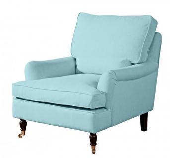 Sessel Lounge Chair Longchair Klavierfüße weich bequem Textilsessel modern