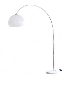 Bogenlampe Kunststoff Marmor und Metall Weiß