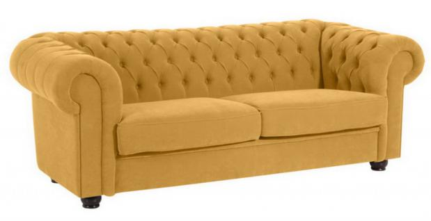 Sofa Couch 2, 5-Sitzer Stoff weich Textilsofa Wohnzimmer barock klassisch
