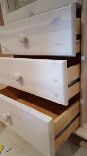 Kleiderschrank Schrank 3-trg. Kiefer massiv weiss lasiert Kinder - Jugendzimmer - Vorschau 2