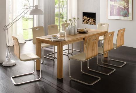 Essgruppe Esstischgruppe Tisch Stühle Set Esszimmer Kernbuche massiv geölt