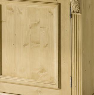 Schrank Kleiderschrank Fichte massiv 2-trg Landhausstil antik lackiert - Vorschau 3