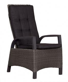 Relaxsessel Sessel Metall und Polyethylen Grau