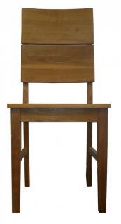 kleine Tischgruppe Tisch + 2 Stühle Eiche massiv geölt Massivholz 80 x 80 cm - Vorschau 3