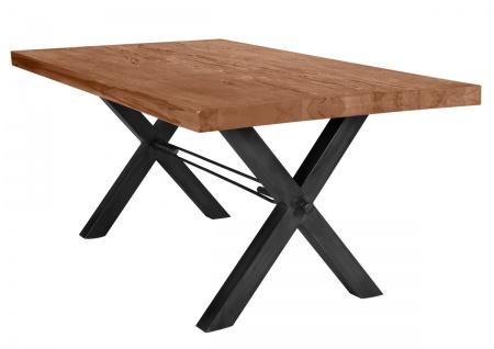 TISCHE&BÄNKE Tisch 180x100 Balkeneiche Eisen Natur Antikschwarz