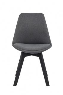 Stuhl 2er Set Polyester Grau