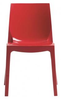Esszimmerstuhl Kunststoff Rot
