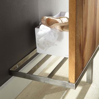 Garderobe Set Paneel Spiegel Kommode Flur Balken Eiche massiv geölt white wash - Vorschau 4